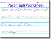 Printables Cursive Handwriting Practice Worksheets make beautiful cursive handwriting worksheets use this to practice with your more advanced students just type in sentences as you would a word processor and