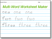 Amazing D'Nealian Handwriting Worksheet Maker