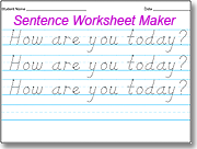 Worksheets Handwriting Worksheet Maker For Kindergarten amazing dnealian handwriting worksheet maker use the style sentence with a students name or small type words letters in first line